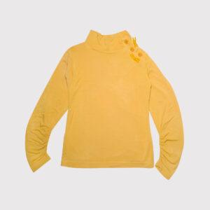 Maglietta Manica Arricciata Lunga